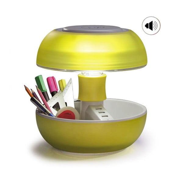 Lampa stołowa, ładowarka i głośnik w jednym Joyo Light, żółta