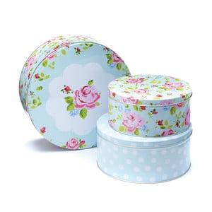 Zestaw 3 pojemników na słodkości Cooksmart England Florals