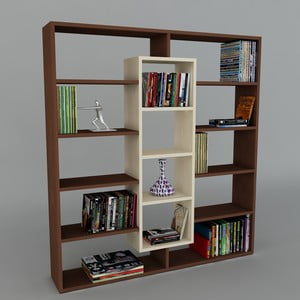 Biblioteczka Ample Wenge/Maple, 22x125x135,7 cm