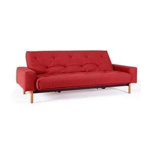 Czerwona sofa rozkładana Innovation Mimer