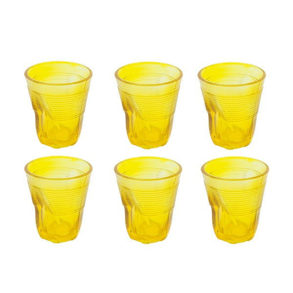 Zestaw 6 szklanek Kaleidos 225 ml, żółty