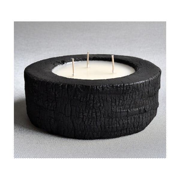 Palmowa świeczka Legno Dark o zapachu wanilii i paczuli, 60 godzin palenia
