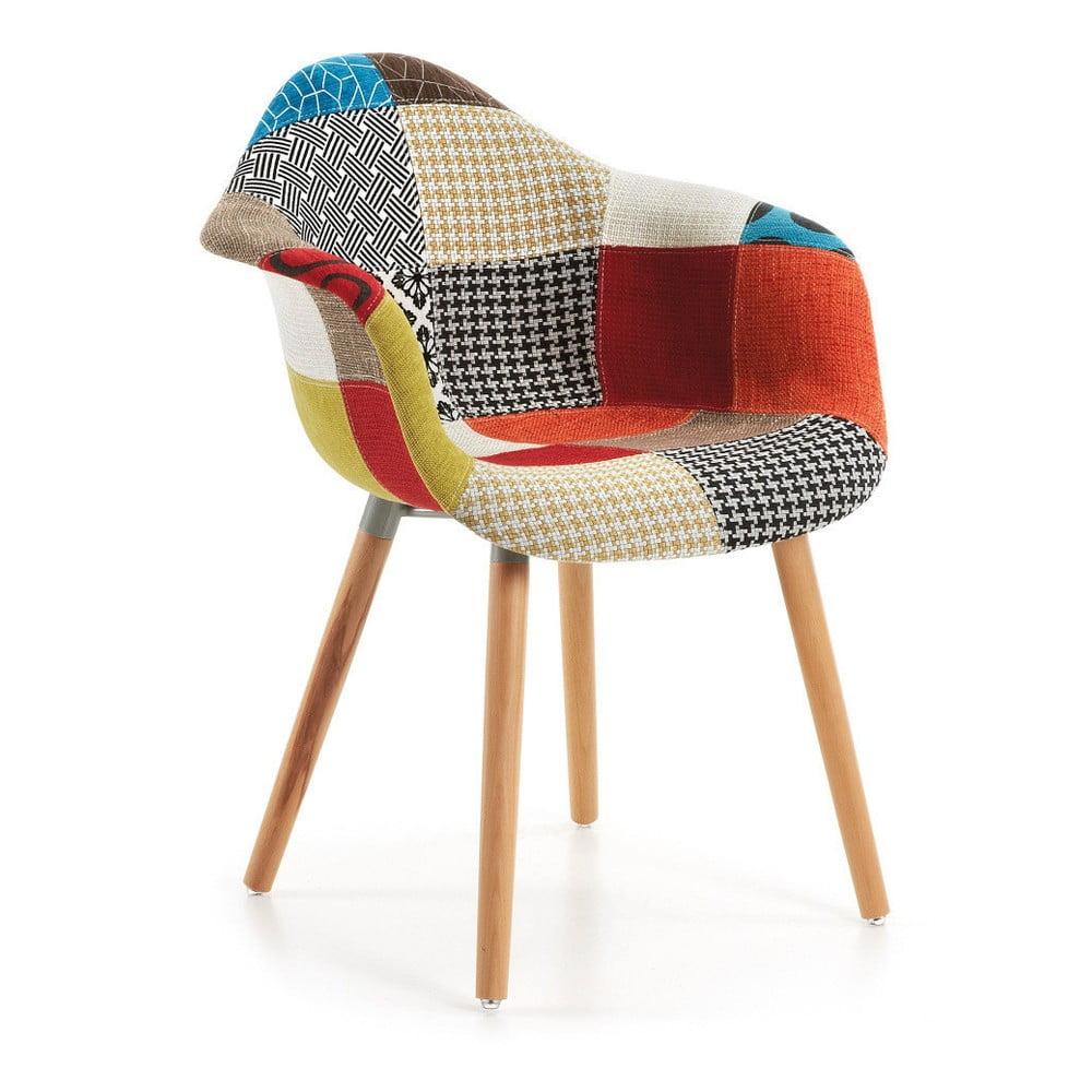 Wzorzysty fotel La Forma Kenna