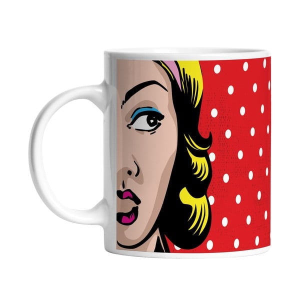 Ceramiczny kubek Lady in Dots, 330 ml