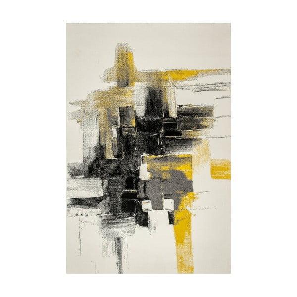 Dywan Farbles, Grey, Yellow, 200x290 cm