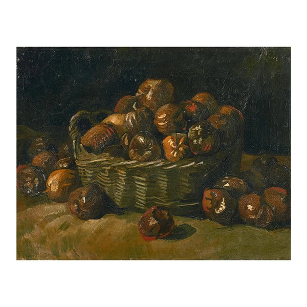 Reprodukcja obrazu Vincenta van Gogha - Basket of Apples, 70x55 cm