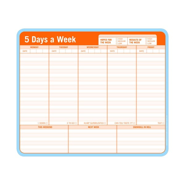 Planer tygodniowy 5 Days a Week