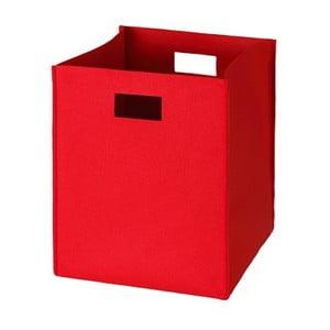Filcowe pudełko 36x30 cm, czerwone