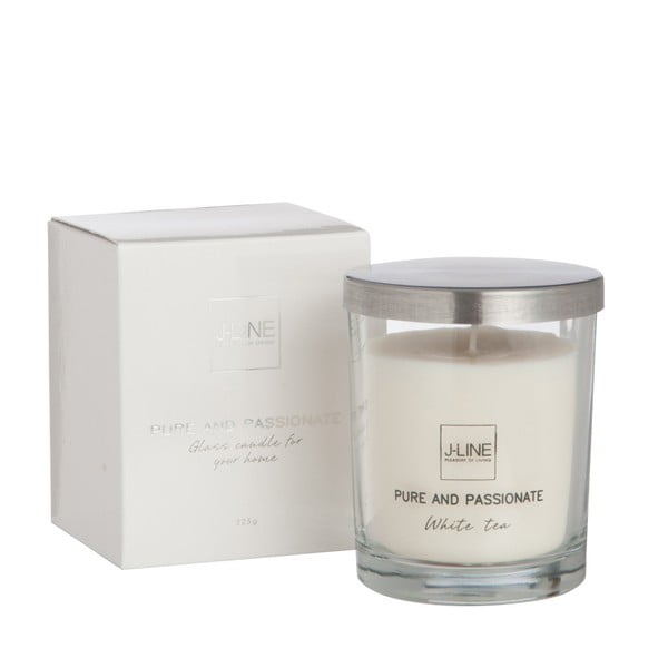 Świeczka zapachowa Scented Glass 8x10 cm, biała herbata