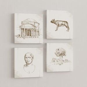 Zestaw 4 obrazów Rzym