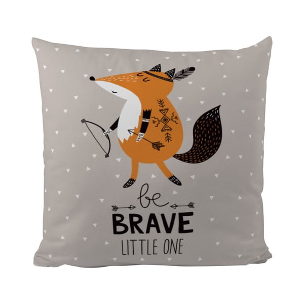 Poduszka Mr. Little Fox Be Brave, 50x50cm