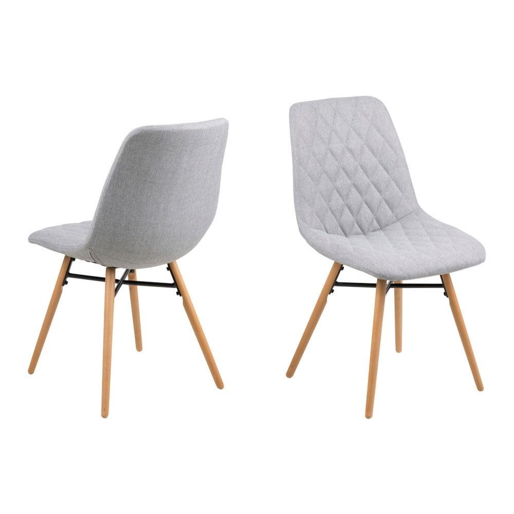 Zestaw 2 jasnoszarych krzeseł Actona Lif
