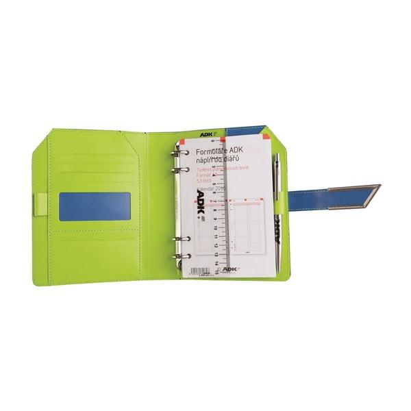 Kalendarz na rok 2016 AKD, niebiesko-zielony, rozm. A6