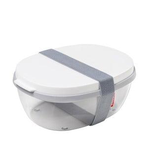 Pojemnik na sałatkę z białym wieczkiem Rosti Mepal Ellipse