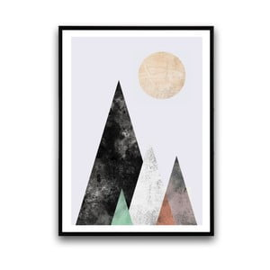 Plakat w drewnianej ramie Abstract moutain, 38x28 cm
