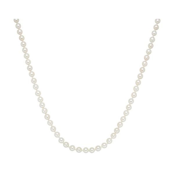 Perłowy naszyjnik Muschel, białe perły 6 mm, długość 80 cm