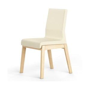 Białe krzesło dębowe Absynth Kyla