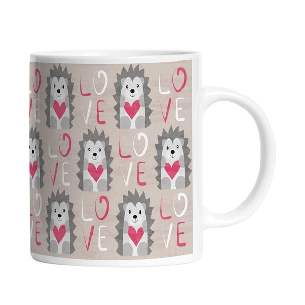 Ceramiczny kubek Hedgehog in Love, 330 ml