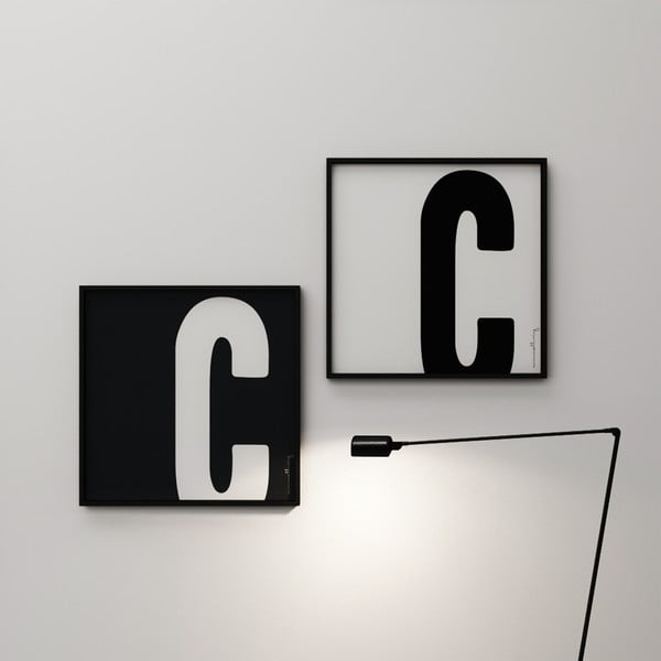 Plakat Litera C, 50x50 cm