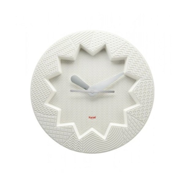 Biały zegar Kartell Crystal Palace