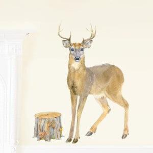 Naklejka wielokrotnego użytku Deer, 80x46 cm