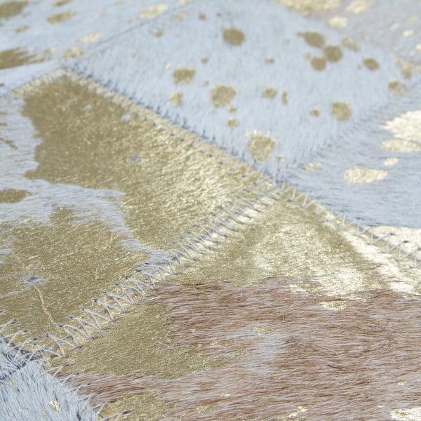 Dywan skórzany Eclipse Gold, 80x150 cm