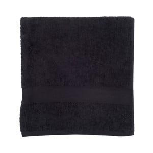 Czarny ręcznik frotte Walra Frottier, 70x140cm