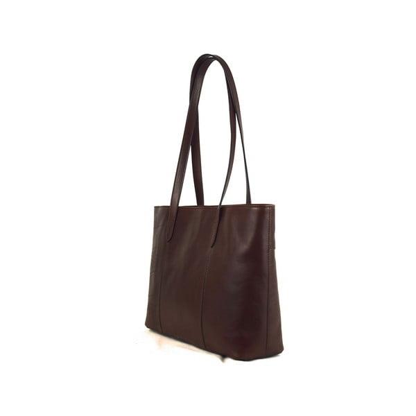 Skórzana torebka Santo Croce M6803 Dark Brown