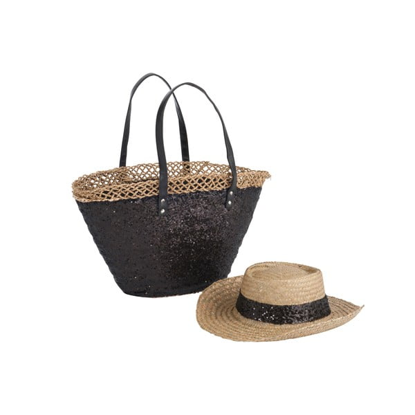 Torba plażowa i kapelusz Spangle Black