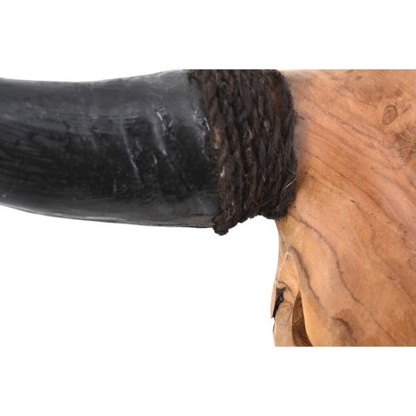 Dekoracyjna głowa byka z drewna tekowego Erosi