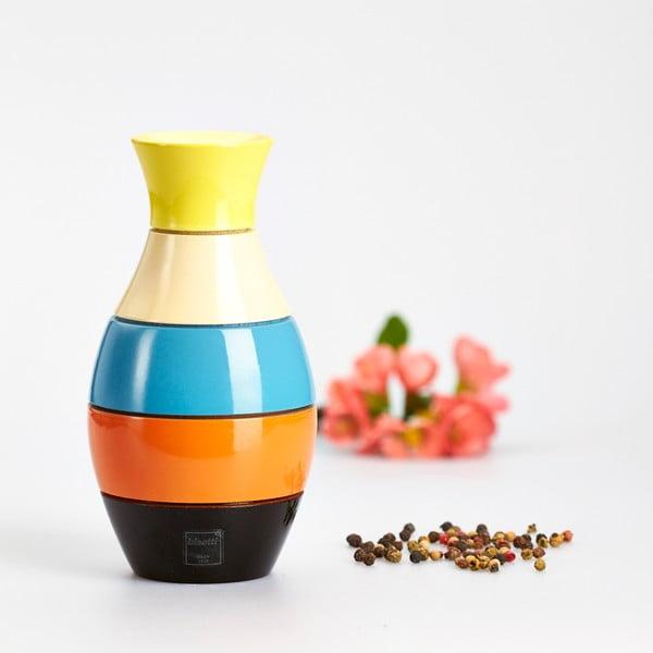 Młynek do przypraw z drewna bukowego Bisetti Vase, 16 cm