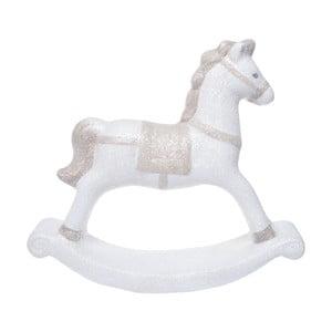 Biały ceramiczny konik na biegunach Ewax, wys. 18,7cm