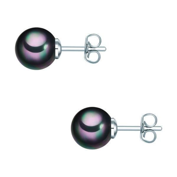 Kolczyki z grafitowych pereł Perldesse Muschel, ⌀ 8 mm