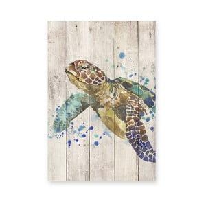 Obraz na drewnie Little Nice Things Turtle, 60x40 cm