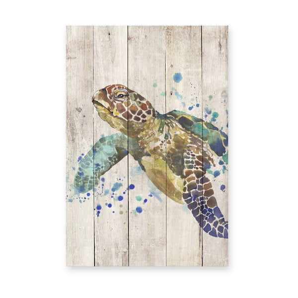 Obraz na drewnie Little Nice Things Turtle, 60x40 cm