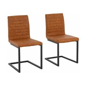 Zestaw 2 brązowych krzeseł Støraa Sandra