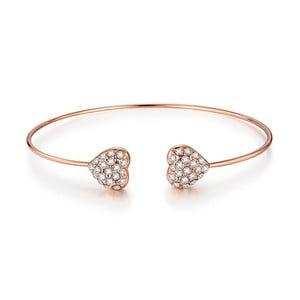Damska bransoletka w kolorze różowego złota ze szklanymi cyrkoniami Runaway