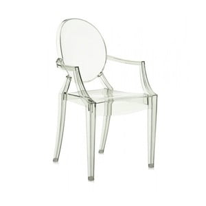 Jasnozielone krzesło Kartell Louis Ghost