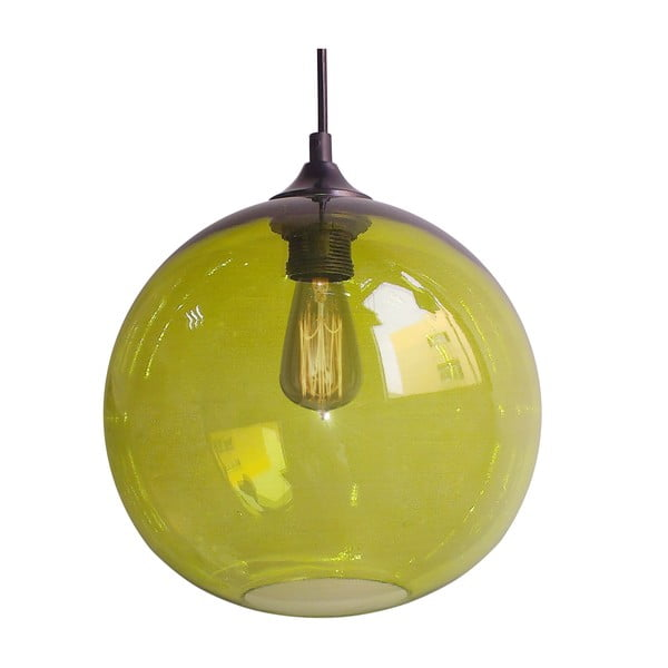 Lampa sufitowa Edison, zielona