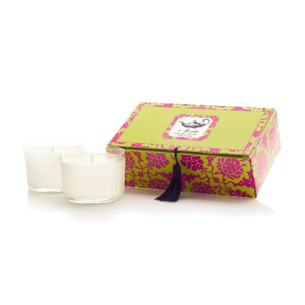 Zestaw 2 świeczek Menthe Tea, 30-40h palenia