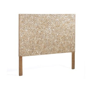 Drewniany zagłówek łóżka dekorowany mozaiką z drewna egzotycznego La Forma Koko, 105x135cm