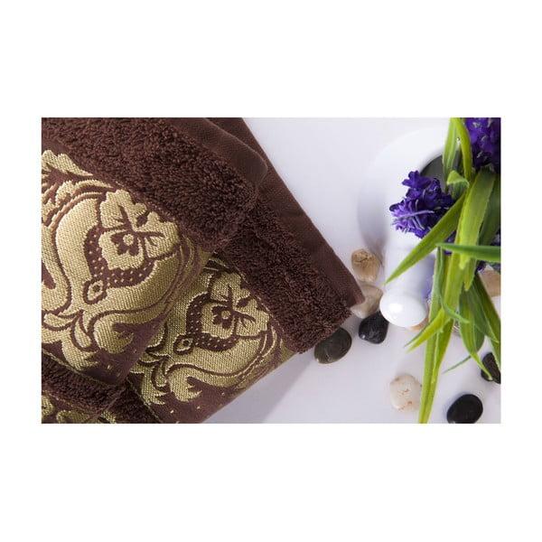 Zestaw 2 ręczników Antik Gold Dark Brown, 50x90 cm