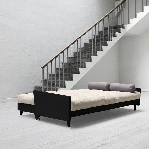 Sofa rozkładana Karup Indie Black/Vision/Gris
