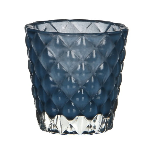 Świecznik Bent Blue, 8 cm