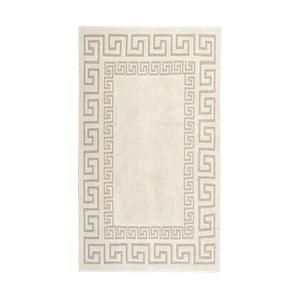 Kremowy dywan bawełniany Orient 80x150 cm, kremowy