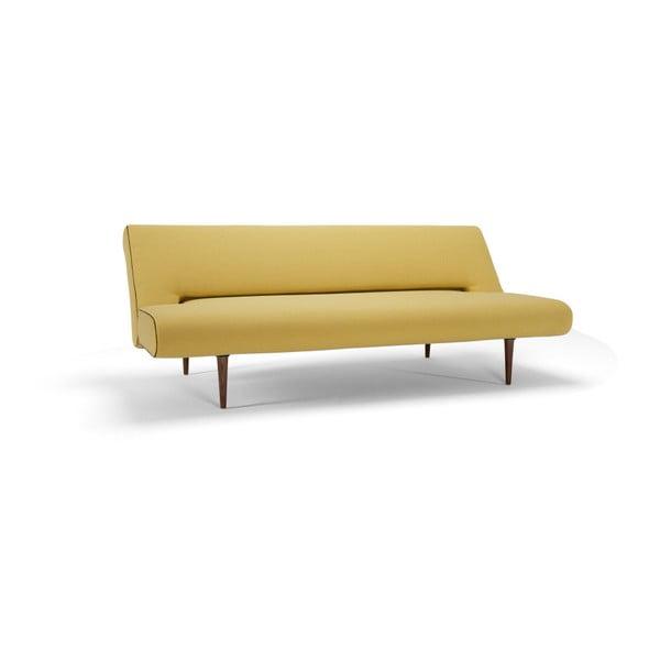 Żółta sofa rozkładana Innovation Unfurl Soft Mustard Flower