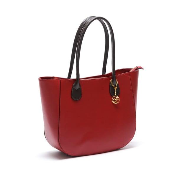 Skórzana torebka Cuco, czerwona