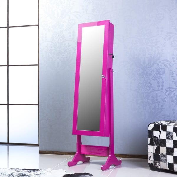 Zamykane lustro stojące ze schowkiem Angelita, fioletowe