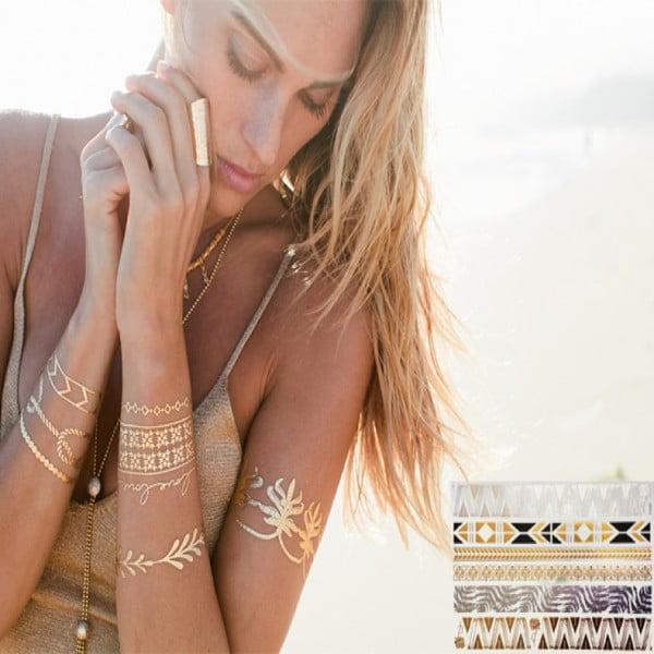 Tatuaż metaliczny Bracelets