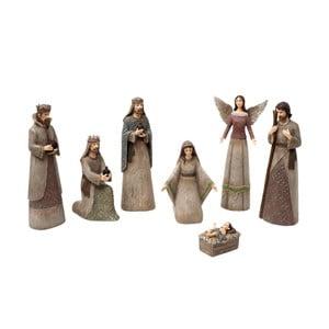 Zestaw 7 figurek do szopki bożonarodzeniowej Clayre & Eef Christmas Crib Figures